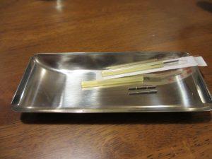 不妊鍼灸で使う完全滅菌の使い捨て鍼