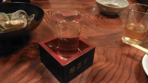 天六のすし屋で日本酒