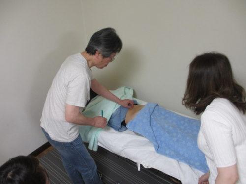 脊柱の反応点を診断するデモ